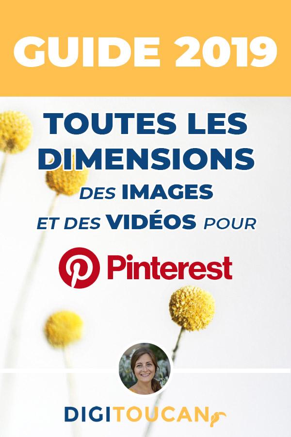 Guide des tailles pour les images Pinterest