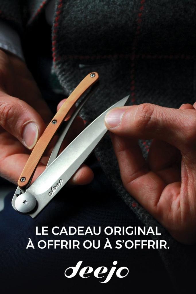 Exemple d'épingle sur Pinterest pour offrir un couteau pour Noël