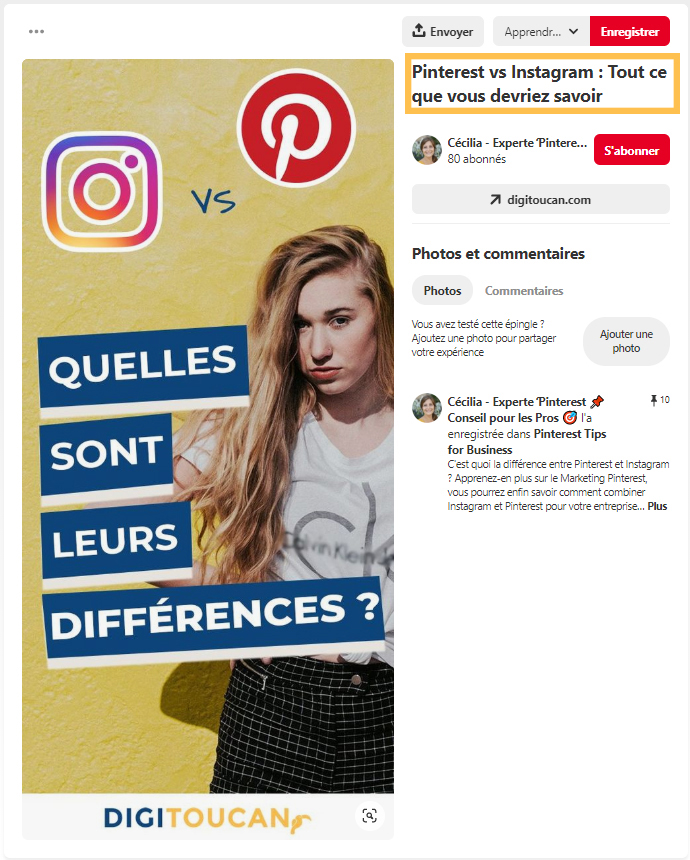 Épingle Pinterest sur les social media