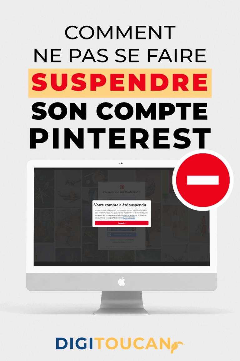 Compte bloqué sur Pinterest