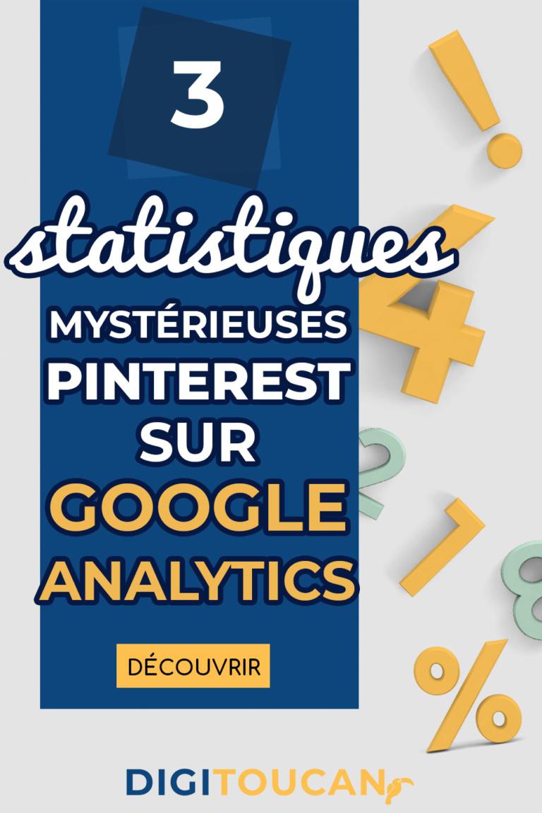 Statistiques pinterest sur Google Analytics