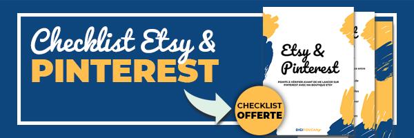 Checklist Pinterest pour Etsy
