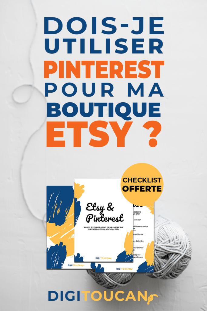 Bonnes pratiques pour sa boutique Etsy sur Pinterest