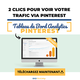 Tableau de bord Google Analytics pour Pinterest - Digitoucan