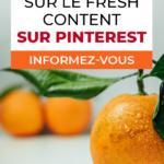 tout savoir sur le fresh content sur Pinterest
