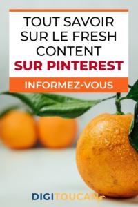 Adoptez le Fresh Content sur Pinterest