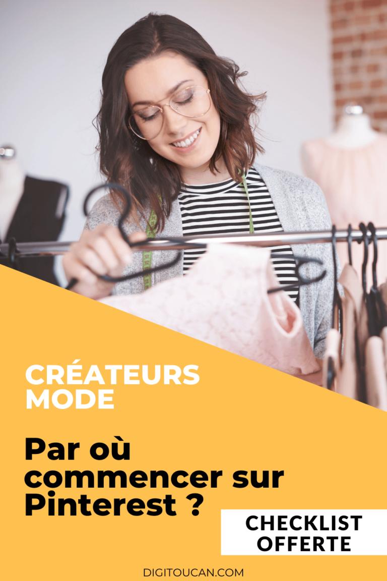 Checklist pour les créateurs de mode sur Pinterest