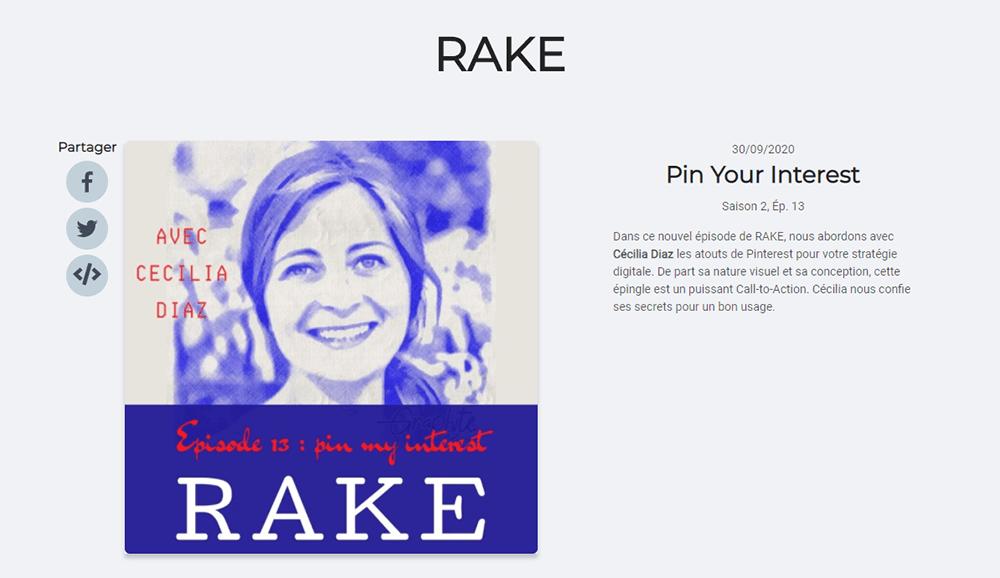 Site internet du Podcast Rake