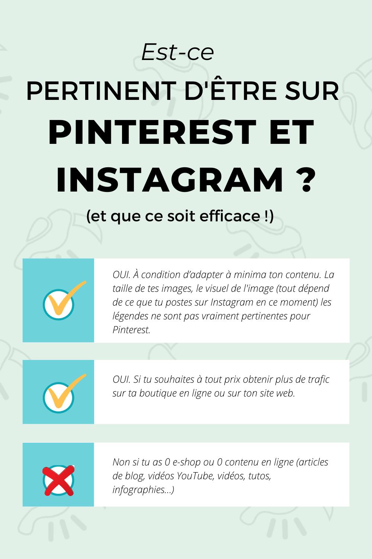 Pinterest Epingle Pertinence Instagram