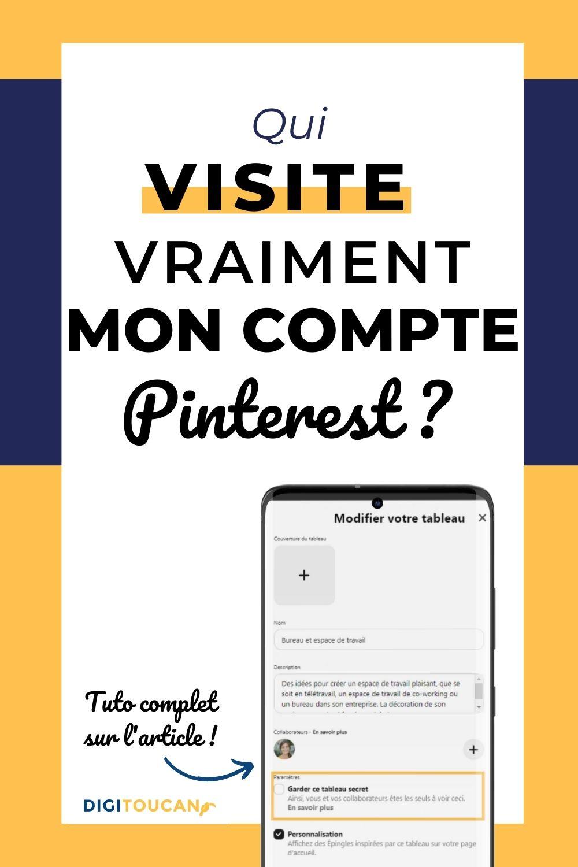 Comment Savoir Qui Visite Profil Pinterest réseaux sociaux